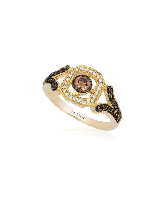 Le Vian - Metallic Chocolatier® Chocolate Diamond® Deco Estate Ring - Lyst