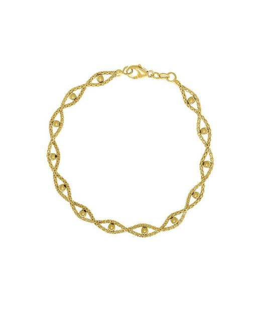 Saks Fifth Avenue - Metallic 14k Yellow Gold Textured Beaded Bracelet - Lyst