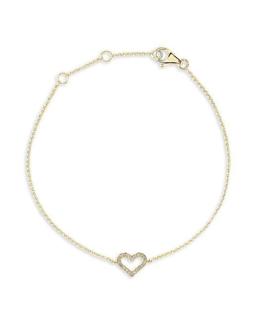Effy Metallic Women's 14k Yellow Gold & Diamond Bracelet
