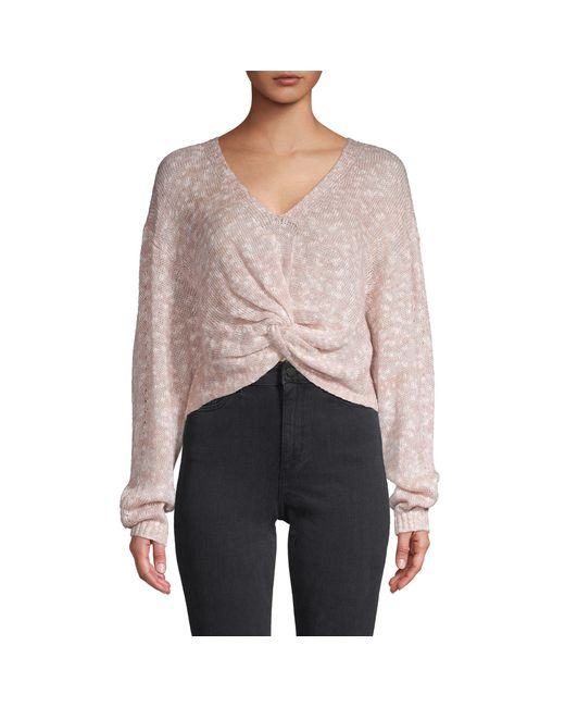 BCBGeneration Multicolor Twist-front Sweater