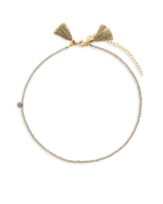 Shashi | Metallic Lola 18k Gold-plated & Beaded Choker Necklace | Lyst