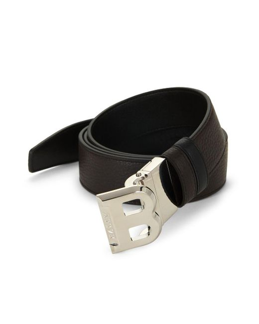 Bally Brown B-buckle Leather Belt for men