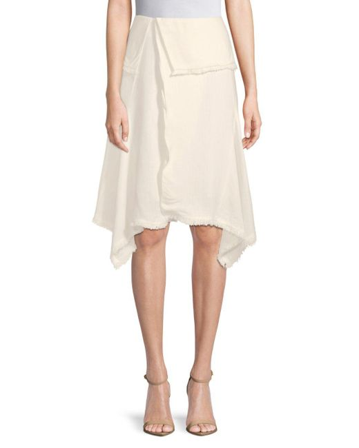 Moon River - Natural Foldover Knee-length Skirt - Lyst