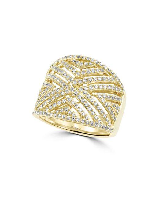 Effy - Metallic Diamond And 14k Yellow Gold, 0.8 Tcw - Lyst