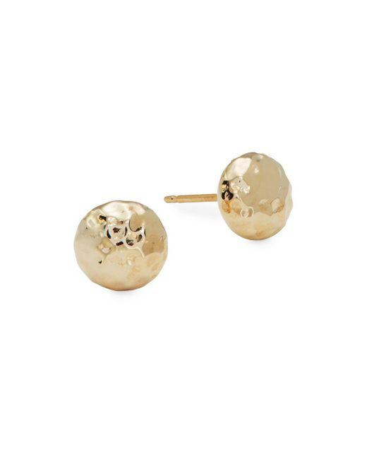 Saks Fifth Avenue - Metallic 14k Gold Hammered Ball Studs - Lyst
