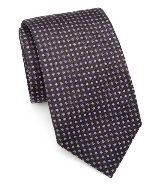 Saks Fifth Avenue - Black Polka Dot Silk Tie for Men - Lyst