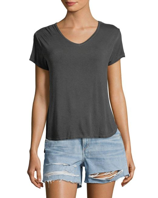 C&C California - Black Short-sleeve Classic Top - Lyst
