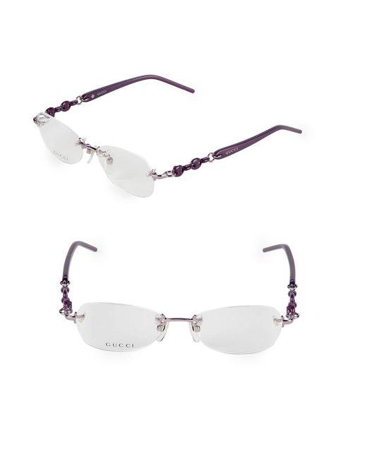 Gucci Purple 51mm Oval Optical Glasses