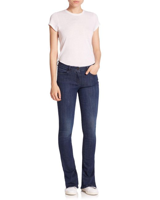 3x1 - Blue Split Seam Bell Jeans - Lyst