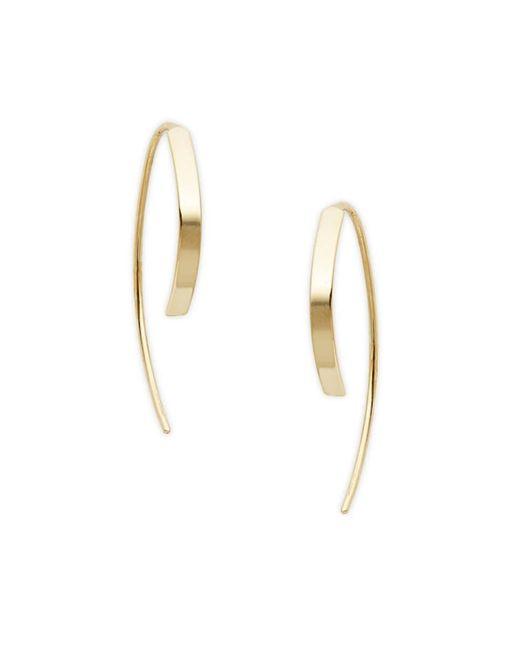 Saks Fifth Avenue Metallic Women's 14k Yellow Gold Threader Earrings