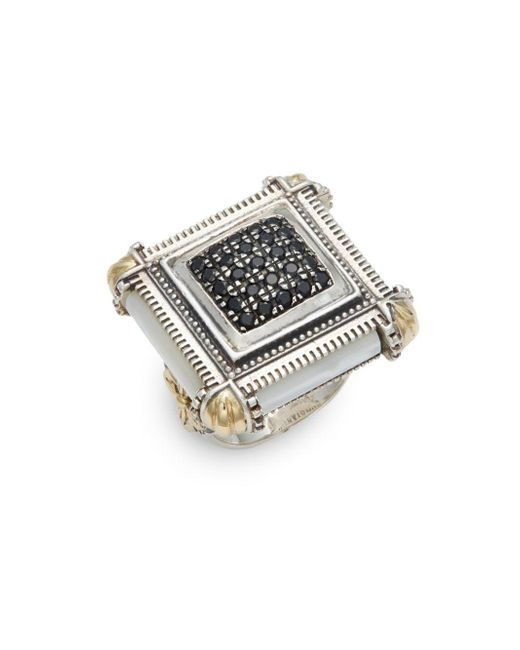 Konstantino | Metallic Ismene Mother-of-pearl, 18k Yellow Gold & Sterling Silver Pave Center Ring | Lyst