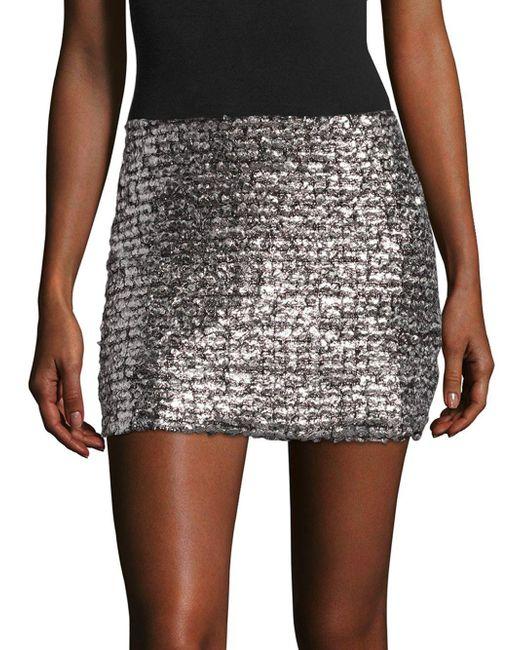 Bailey 44 - Metallic Supreme Mini Skirt - Lyst