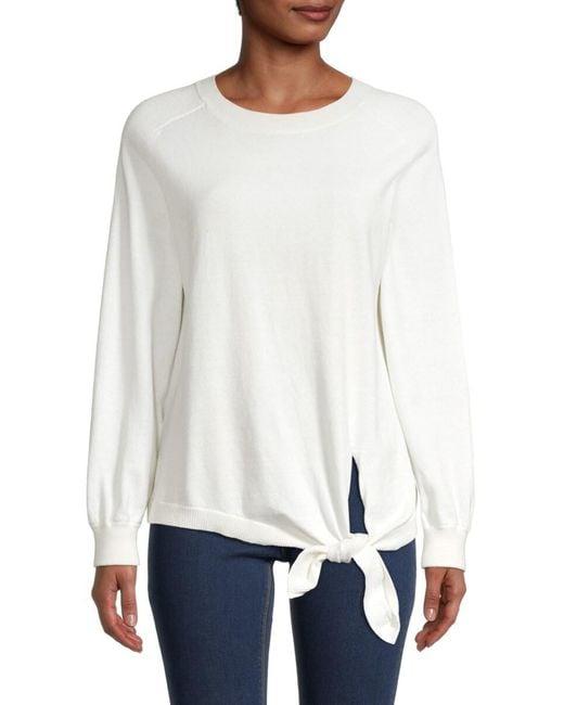 Vince Women's Roundneck Cotton Pullover - White - Size M