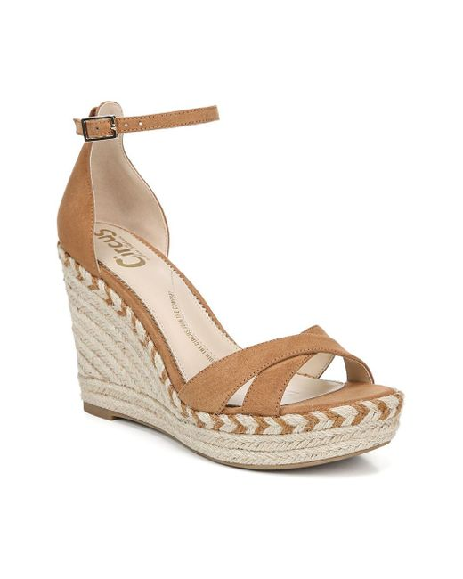 88e60571cde7fd ... Circus by Sam Edelman - Natural Renee Ankle-strap Wedge Espadrilles -  Lyst ...