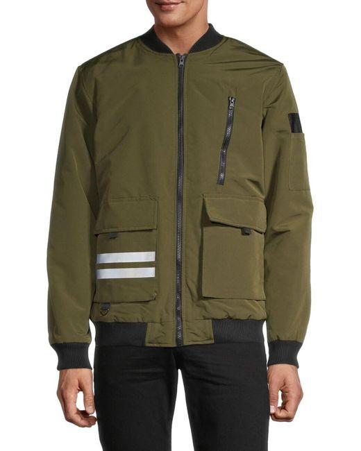 American Stitch Men's Zip Bomber Jacket - Black - Size M for men