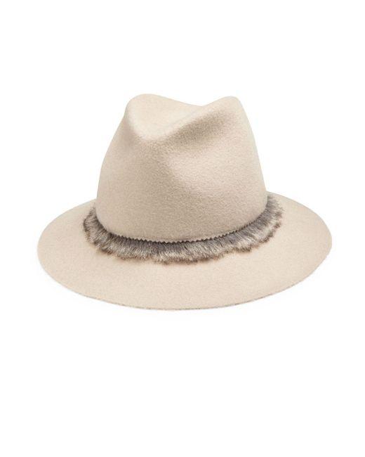 Lola Hats - Gray Unibrow Wool & Rabbit Felt Fedora for Men - Lyst