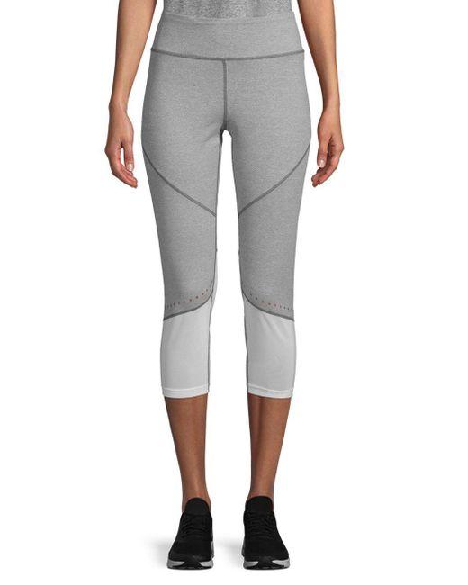 Nanette Lepore - Gray Colorblock Capri Leggings - Lyst