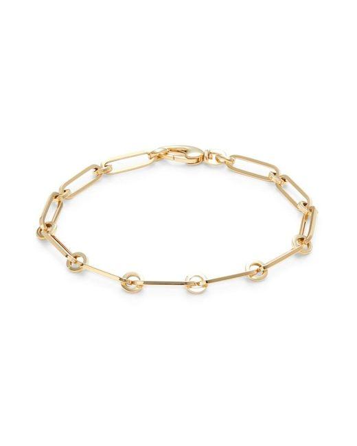 Saks Fifth Avenue Metallic Women's 14k Yellow Gold Paperclip Bracelet