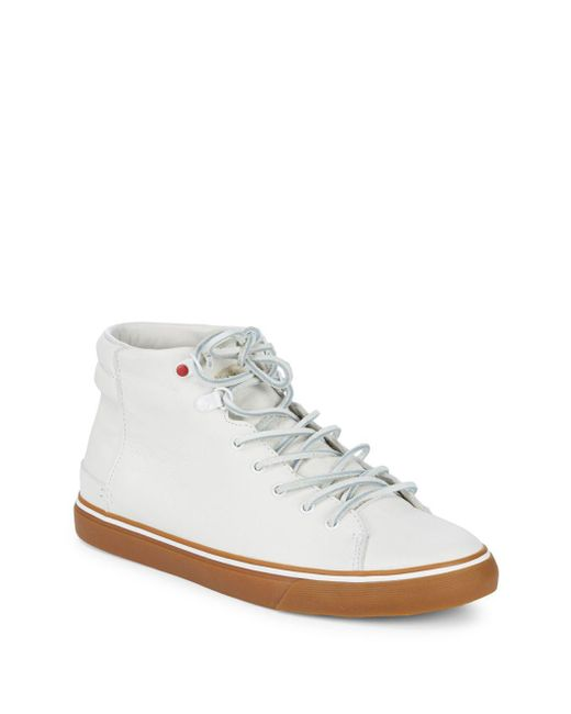 Ugg - White Hoyt Leather Sneakers for Men - Lyst