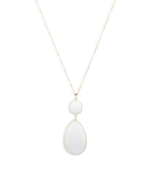 Saks Fifth Avenue - Metallic Teardrop Pendant Necklace - Lyst
