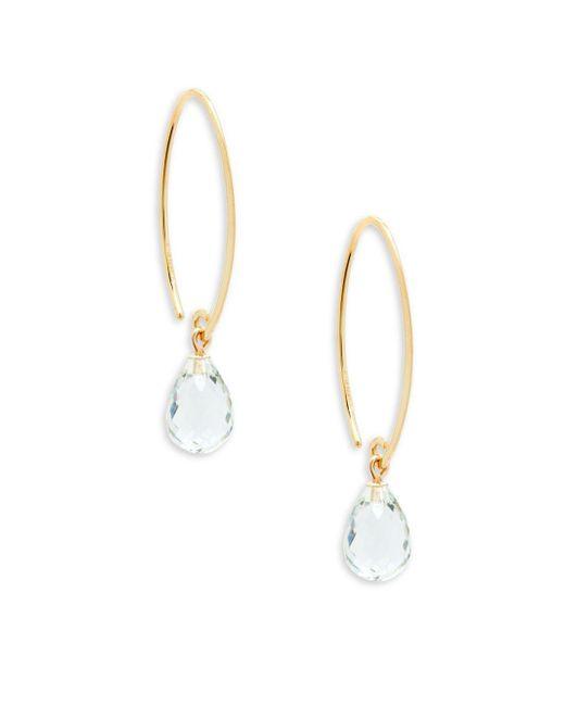 Saks Fifth Avenue - Metallic 14k Yellow Gold Simple Sweep Earrings - Lyst