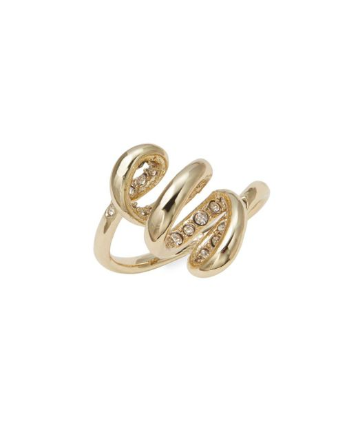 Alexis Bittar | Metallic Crystal-encrusted Spiral Ring | Lyst