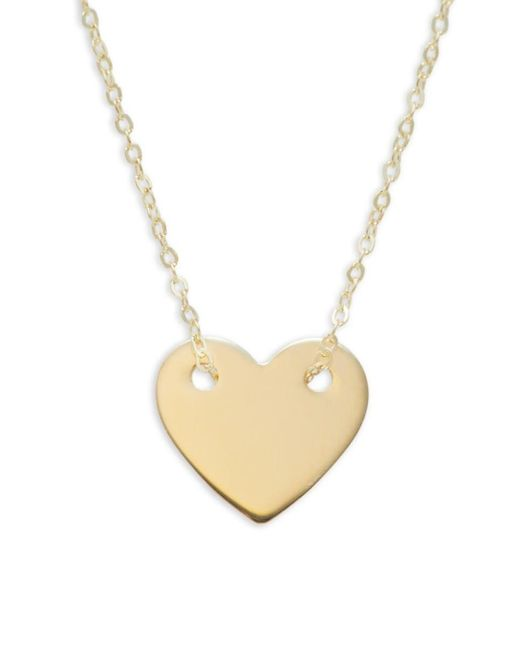 Saks Fifth Avenue Metallic Women's 14k Yellow Gold Heart Pendant Necklace