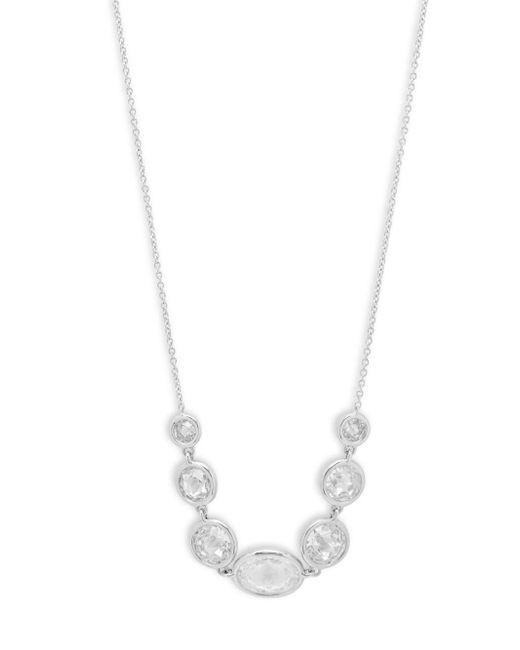Adriana Orsini - Metallic Bezel Crystal Pendant Necklace - Lyst