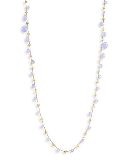 Marco Bicego - Purple Paradise Chalcedony & 18k Yellow Gold Graduated Long Necklace - Lyst