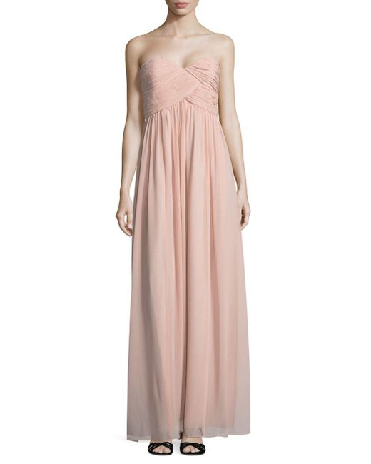Donna Morgan - Pink Laura Solid Strapless Gown - Lyst