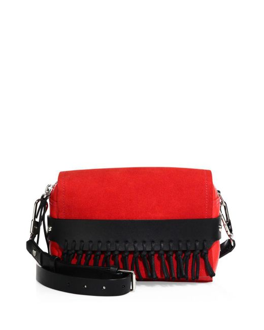 3.1 Phillip Lim - Black Bianca Rosso Small Flap Crossbody W/fringe - Lyst