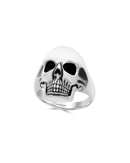 Effy - Metallic Gento Sterling Silver Skull Ring for Men - Lyst