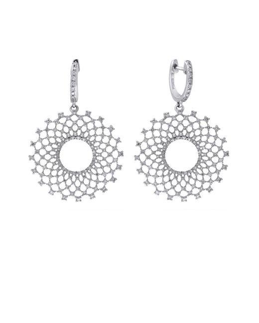 Effy - Metallic Diamond And 14k White Gold Burst Drop Earrings, 1.1 Tcw - Lyst