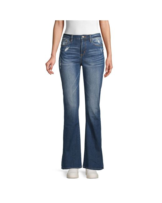 Miss Me Blue Distressed Bootcut Jeans