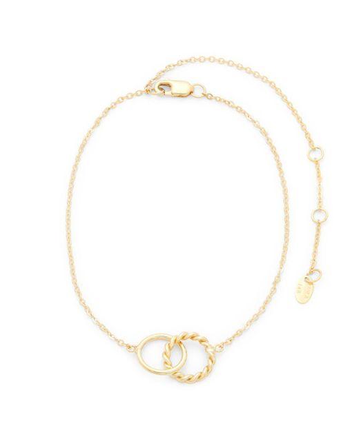 Saks Fifth Avenue - Metallic 14k Gold Double Twist Anklet - Lyst