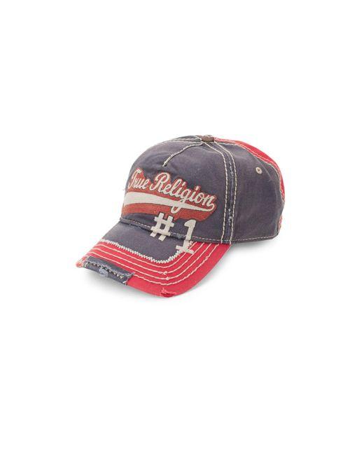 True Religion Red Logo Script Baseball Cap for men