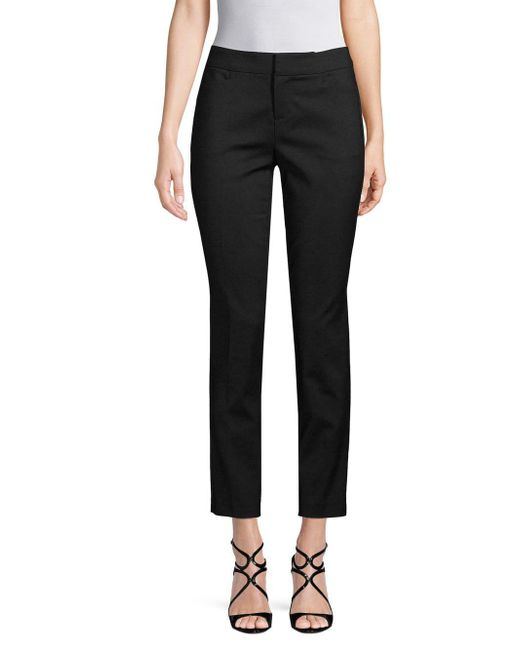 Saks Fifth Avenue - Black 5th Ave Mid Rise Slim Pants - Lyst