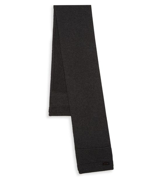 John Varvatos - Black Stitch Ribbed Scarf for Men - Lyst
