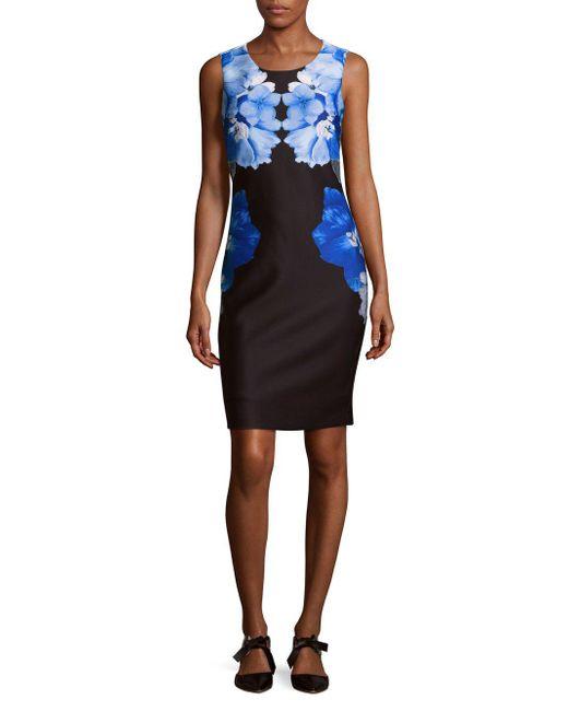 Calvin Klein   Black Scuba Sheath Dress   Lyst