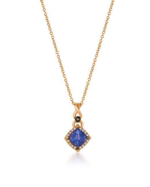 Le Vian - Metallic Chocolatier® Strawberry Gold® & Blueberry Tanzanite® Pendant Necklace - Lyst