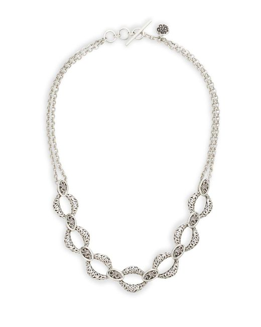 Lois Hill - Metallic Double Chain Statement Necklace - Lyst