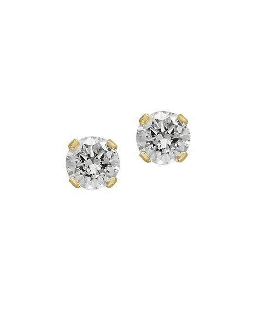 Effy Metallic Diamond & Yellow Gold Stud Earrings
