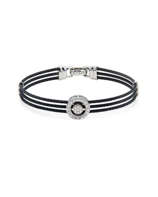 Alor   Black Diamond & 18k White Gold Multi-strand Bracelet   Lyst