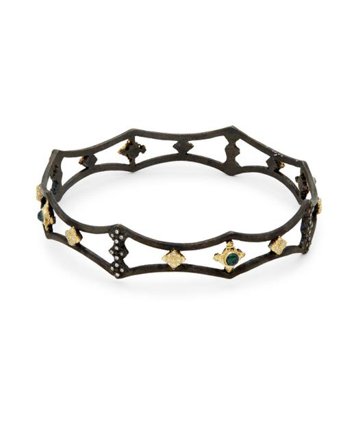 Armenta - Metallic New World Diamond Cutout Bangle Bracelet - Lyst