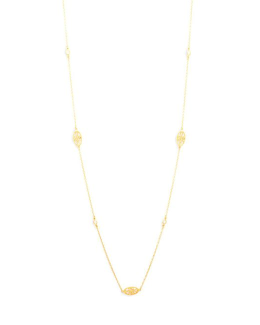 Freida Rothman - Metallic Crystal And Sterling Silver Single Strand Necklace - Lyst