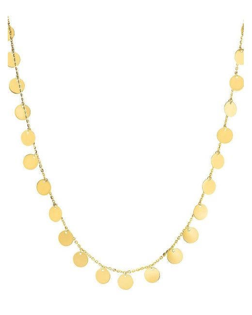 Saks Fifth Avenue - Metallic 14k Yellow Gold Disc Necklace - Lyst