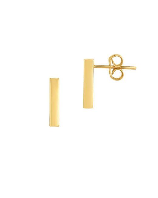 Saks Fifth Avenue - Metallic Bar 14k Yellow Gold Earrings - Lyst