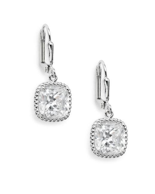 Saks Fifth Avenue - Metallic Square Drop Earrings - Lyst