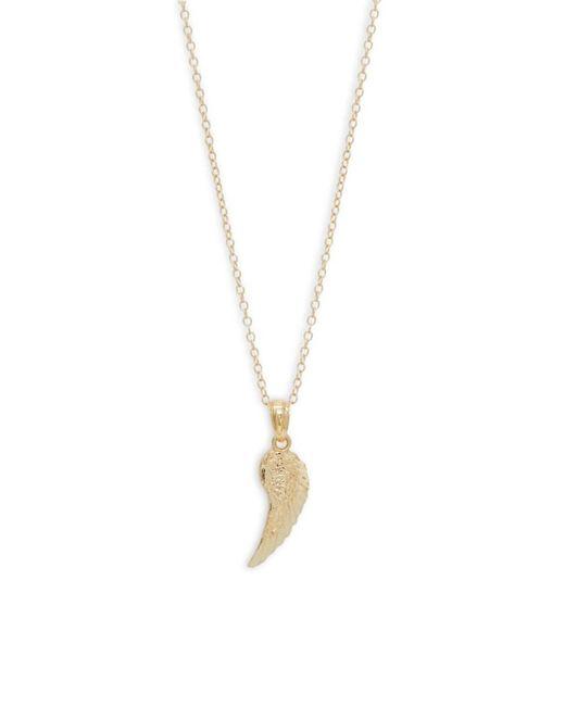 Saks Fifth Avenue Metallic 14k Gold Angel Wing Pendant Necklace