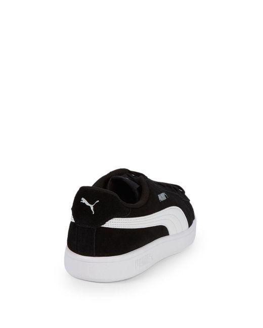 pretty nice ccb55 007c8 Men's Black Smash V2 Suede Sneakers